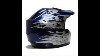 Tms Youth Blue Flame Dirt Bike Motocross Helmet Atv Mx