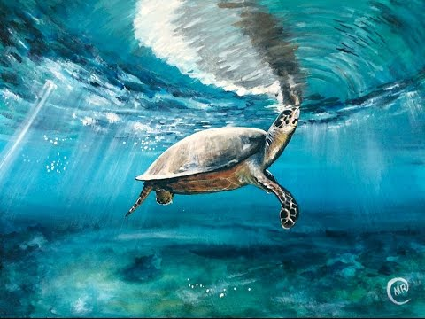 Watercolor Sea Turtle Painting Video Short Version