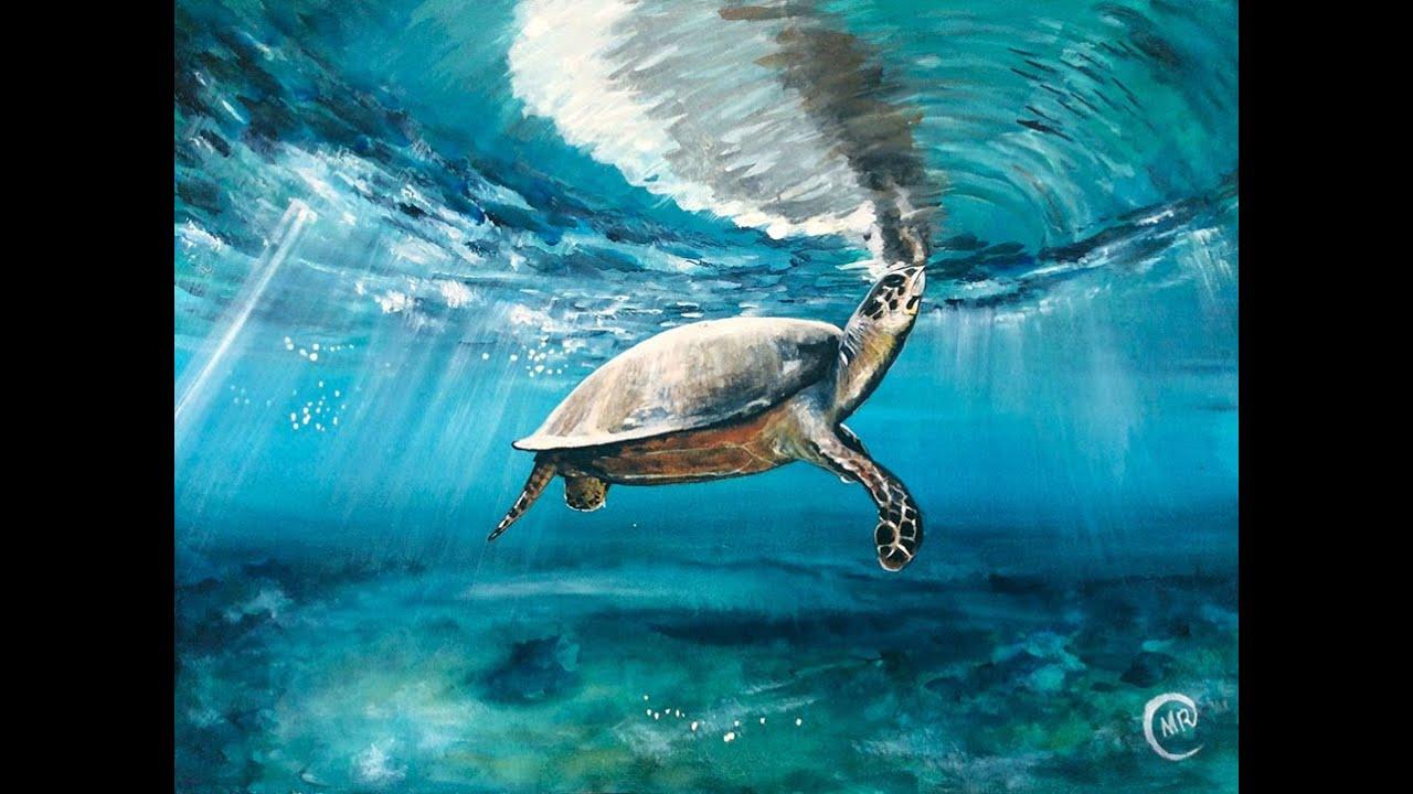 Turtle Acrylic Painting