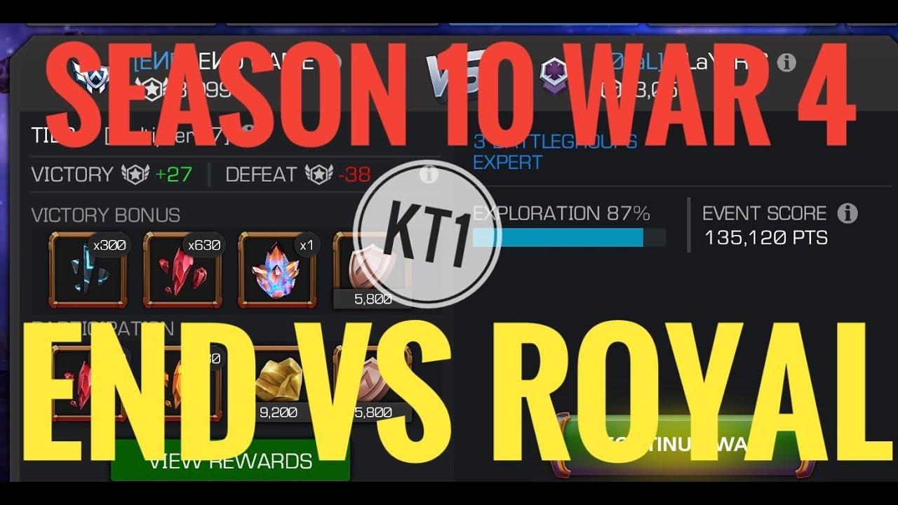 END Vs ROYAL - Season 10 War 4 - (Path 9 , Aegis Heavy, Intercept + Reverse  Controls)