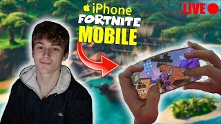 FORTNITE MOBILE - Duos With ELITEISAIAH! Going Green! / IPHONE XS MAX 60FPS (HANDCAM)