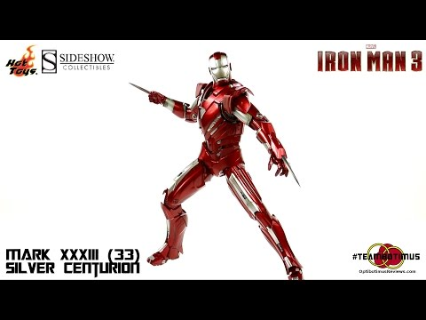 "Video Review of the Hot Toys Iron Man 3: Mark XXXIII (33) ""Silver Centurion"""