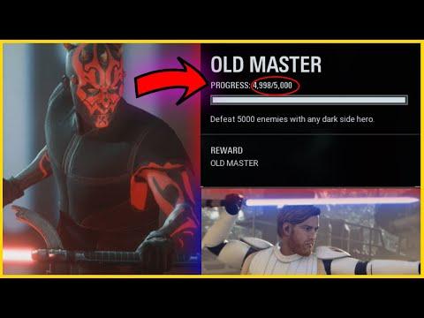 Unlocking Darth Maul Old Master Skin By Killing Obi-Wan Kenobi In Star Wars Battlefront 2