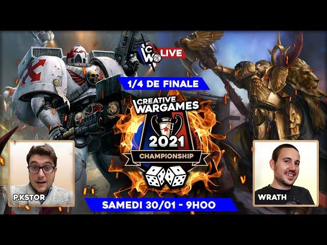 Creative Wargames championship 2021 - White Scars VS Custodes (1/4 de finale) Warhammer 40.000