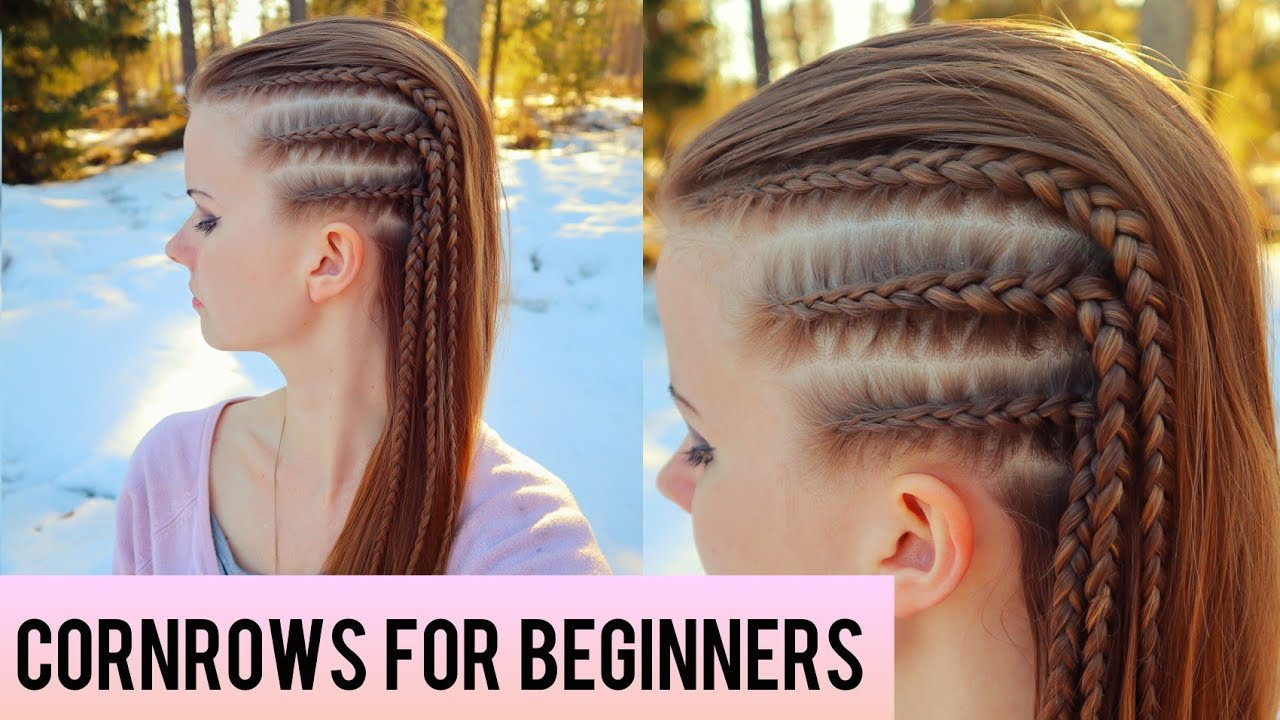 Thick Cornrows On White Girls / A high top knot like this complements square faces to soften those strong angles.