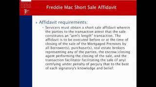 Title Topics:  Freddie Mac Short Sale Affidavits