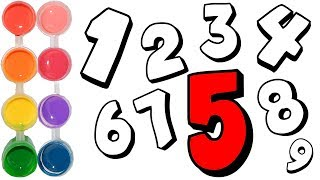 How to Draw & Color the Numbers Kids | Learning w/ Coloring Count Tutorial | Learn Art for Toddlers