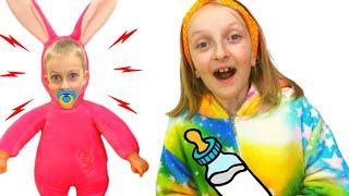Tawaki kids and Eva found a doll and pretends to be a parent #2