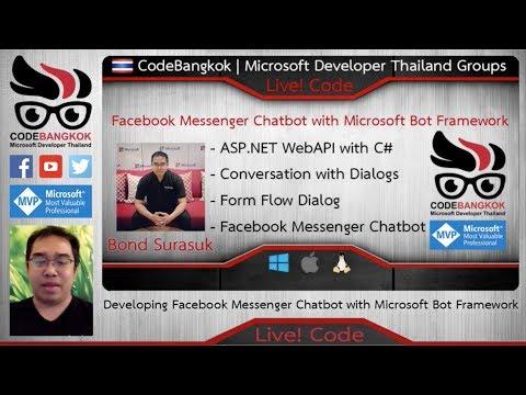 Live! Code 11: Develop Facebook Messenger Chatbot With Microsoft Bot Framework