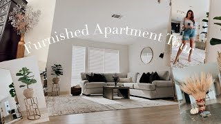 Furnished Apartment Tour | MODERN + COZY