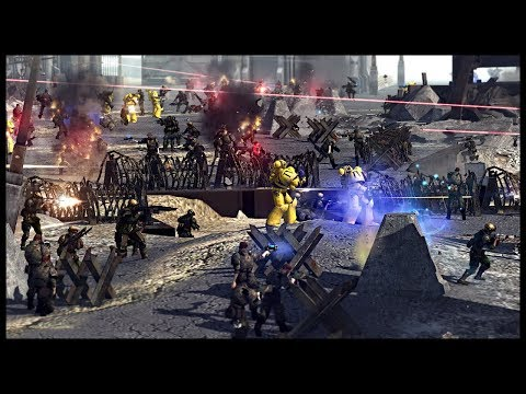 IMPERIAL FISTS SPACE MARINES ON CRUSADE! Warhammer 40k Mod