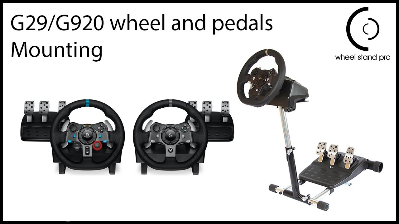 logitech g29/g920 setup video - wheel, pedal and wire fastening  - youtube