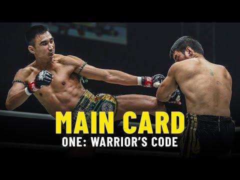 ONE: WARRIOR'S CODE Main Card Highlights
