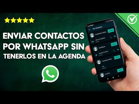 Cómo Enviar Varios Contactos por WhatsApp sin Agregarlos a la Agenda