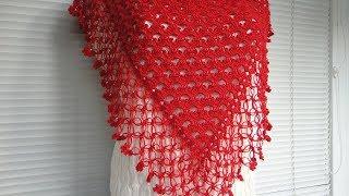 Простая шаль крючком для начинающих. Crochet shawl