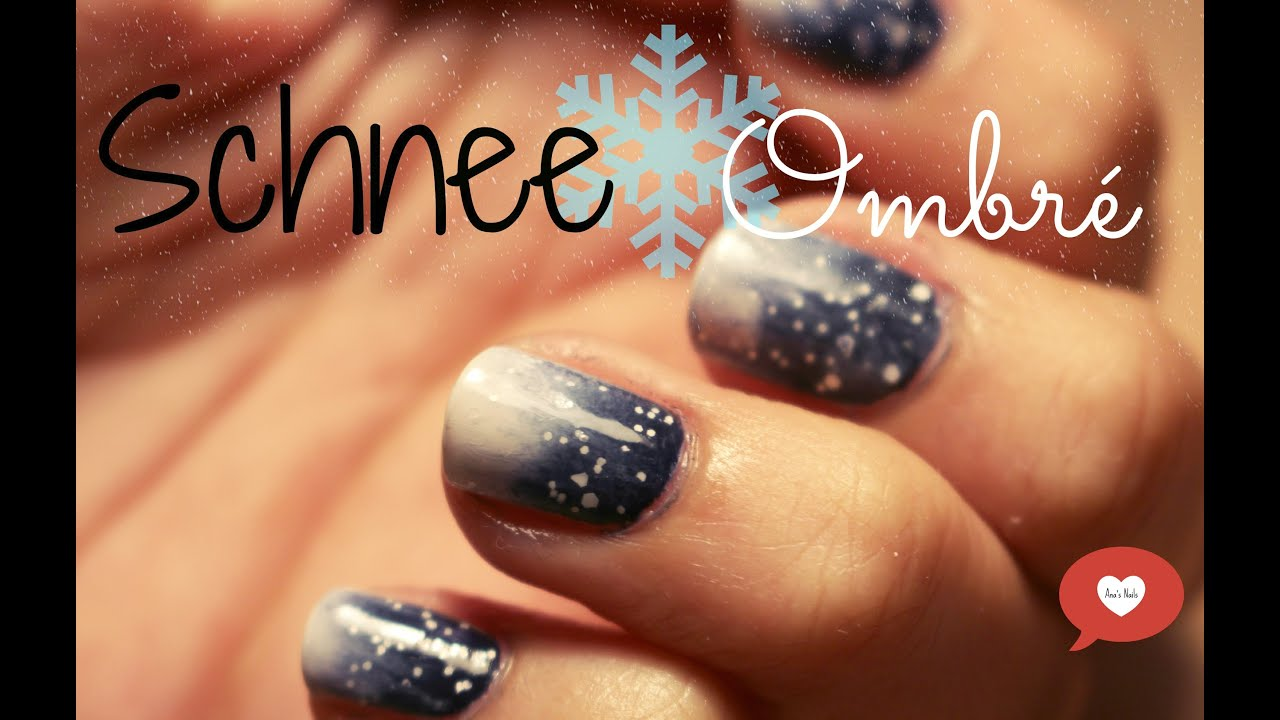 Schnee Ombré Nägel (inspiriert durch Frozen) deutsch - YouTube