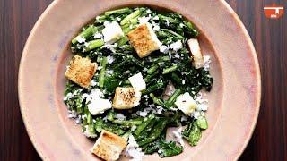 Radish Leaf & Coconut Salad | Simple Healthy Homemade Vegetarian Salad Recipe