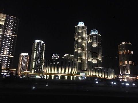 North Korea modern town of Ryomyong by night