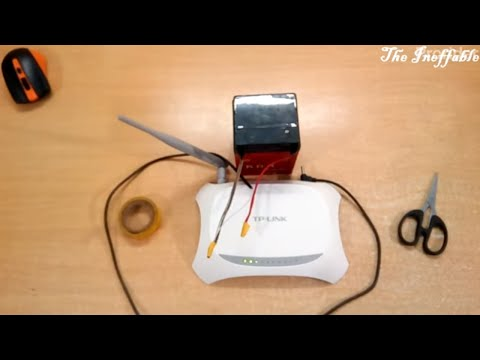 How To Make A Power Backup For WiFi Router - YouTube