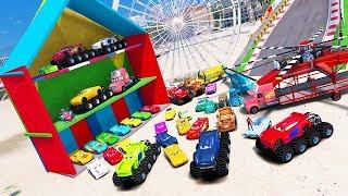 Cars 3 Colors Jackson Storm Cruz Ramirez Lightning McQueen Mack Truck Mater Dinoco Spiderman