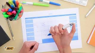 Обзор «Bic Ручка шариковая Colours Fine 4 в 1 цвет корпуса оранжевый BIC»