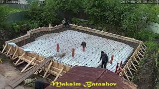 Z28 Монолитная фундаментная плита с ростверком. (ход строительства)