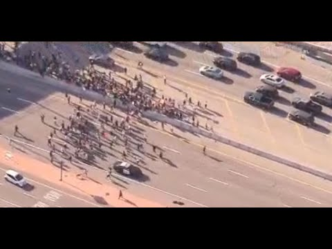 Watch Live: Group Of Protesters Halt Traffic On The 101 Freeway | NBCLA