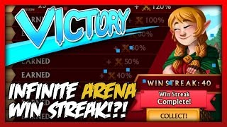 knights and dragons infinite arena win streak