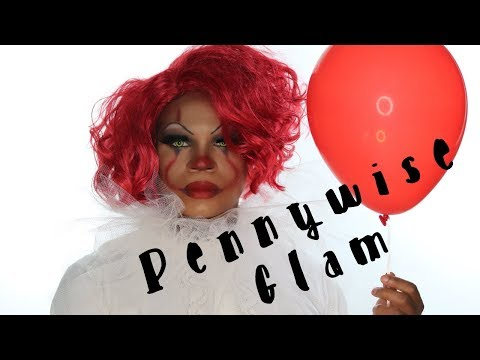 """PENNYWISE GLAM"" MakeUp Tutorial by Delandis ""Halloween 2019"" thumbnail"