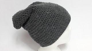 Łatwa czapka na szydełku szydełkowanie 4K
