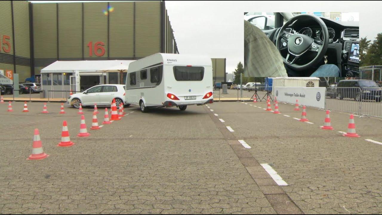 practical caravan tests volkswagen 39 s trailer assist youtube. Black Bedroom Furniture Sets. Home Design Ideas