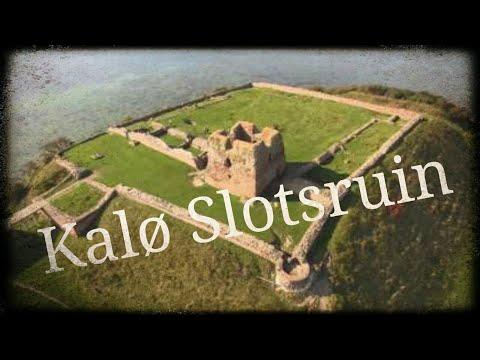 Kalo Castle (Kalø Slotsruin), Roende (Rønde), Djursland, Denmark.. from above.. By Drone