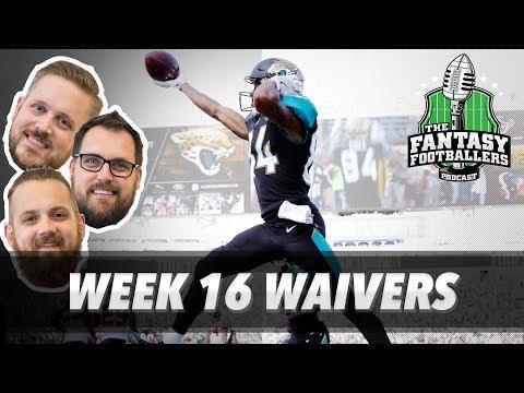 Fantasy Football 2017 - Week 16 Waivers & QB Streamers, Bad Beats - Ep. #502