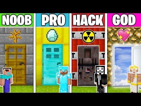 Minecraft - NOOB vs PRO vs HACKER vs GOD : SECRET DOOR in Minecraft ! Animation
