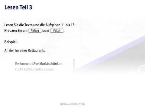 Start Deutsch 1 Lesen Teil 1 2 Und 3 Prüfungstraining 03
