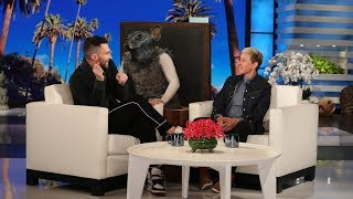 Adam Levine Gets Scared by a Giant Rat