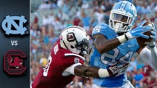 North carolina outgained south 440-394 in total yards but came up short on the scoreboard 17-13. unc sophomore elijah hood ran for a career-high 138...