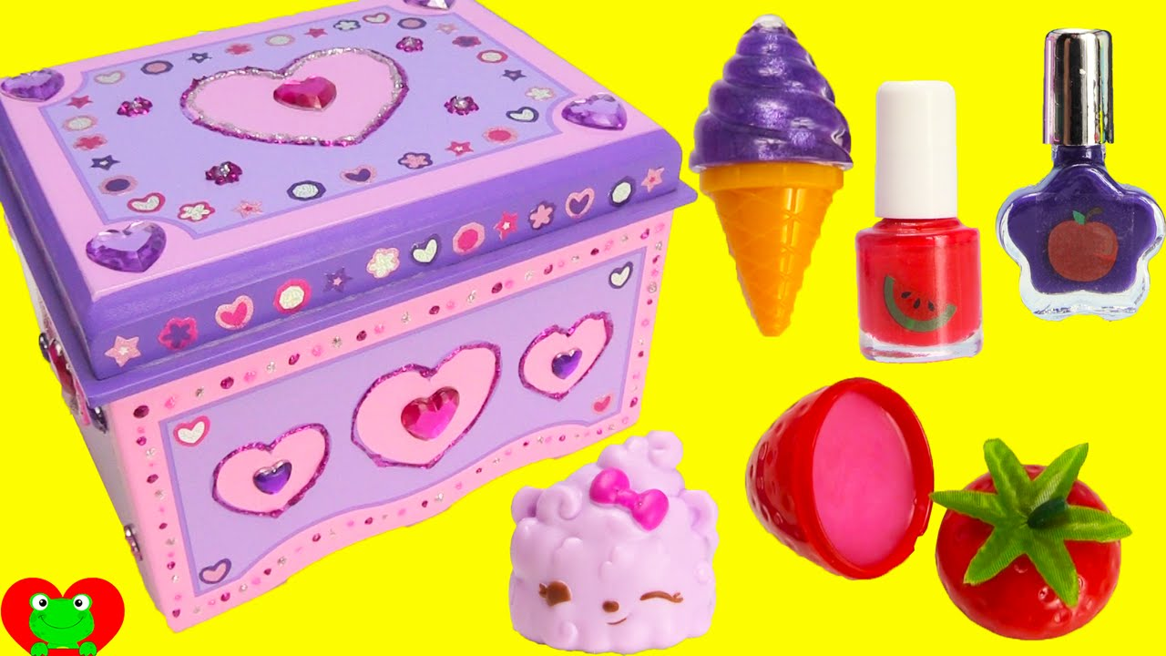 DIY Treasure Box by Melissa and Doug Lisa Frank Lip Balms Shopkins