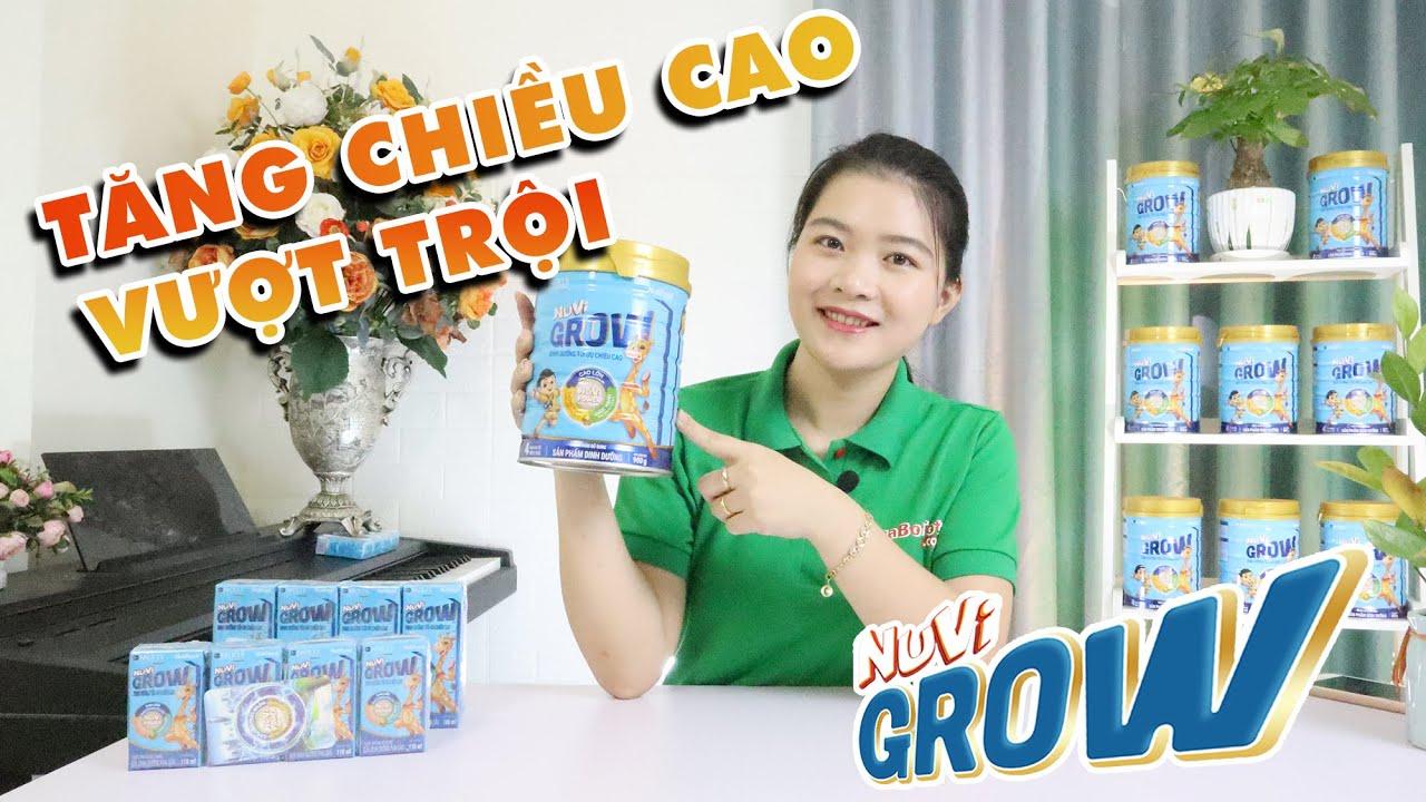 [REVIEW] Sữa Nuvi Grow giàu Canxi giúp bé TĂNG CHIỀU CAO vượt trội