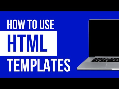 How To Use A HTML Website Template 2019