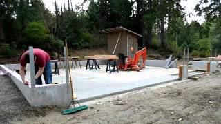 Building my garage #10 installing sill plate framing part 1