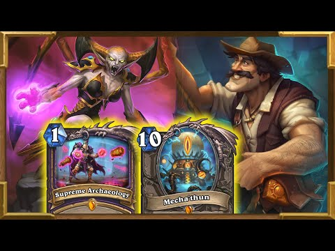 Hearthstone: Quest OTK Mecha'thun Warlock With Reno Jackson | Descent of Dragons | Wild