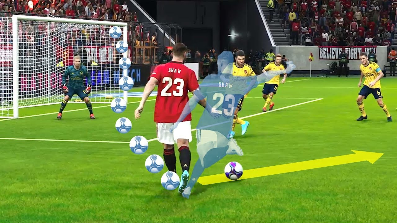 eFootball PES2020 New Skill Tutorial #1 - Dummy Pass Skill