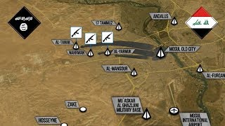 27 июня 2017. Военная обстановка в Ираке. Внезапная атака ИГИЛ в Мосуле. Русский перевод.