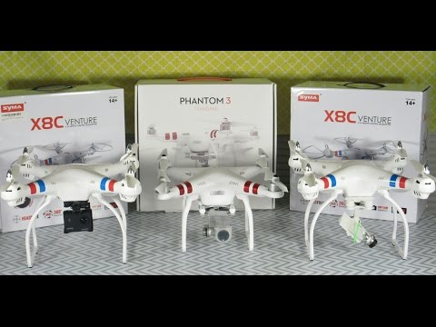 Let talk camera quads! Syma X8C vs DJI Phantom 3 Standard