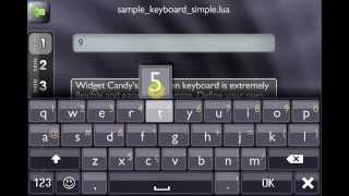 Widget Candy GUI for Corona & Gideros SDK - Virtual Keyboard [1080p]