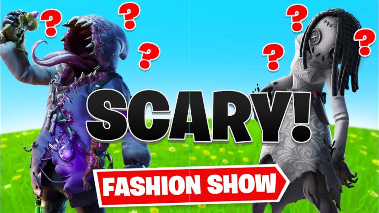 *SCARY* Fortnite fashion show! FRIDAY THE 13th! Scariest Skins and EMOTES WINS! [4/10]
