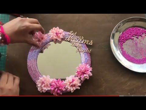 20. DIY Quick and Easy Glam Wall Mirror | Wall Decorating Ideas | Homedecor Mirror | DIY Mirror