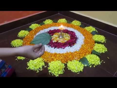 Flower Rangoli - Easy And Beautiful