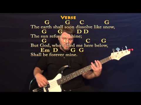 Amazing Grace - Bass Guitar Cover Lesson with Chords/Lyrics